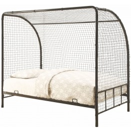 Bennette Youth Black Twin Soccer Bed