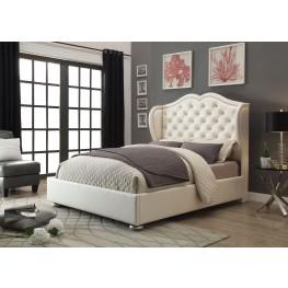 Clarice Cream Queen Platform Bed