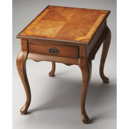 Plantation Cherry Grace Olive Ash Burl End Table