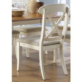 Ocean Isle Upholstered X Back Side Chair Set of 2