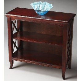 Newport Plantation Cherry Low Bookcase
