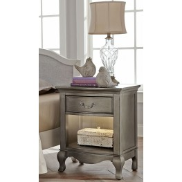 Kensington Antique Silver Light Nightstand