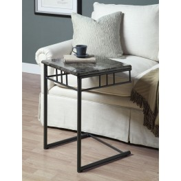 3063 Grey Marble / Charcoal Metal Snack Table