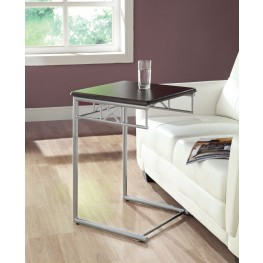 3073 Cappuccino / Silver Metal Snack Table