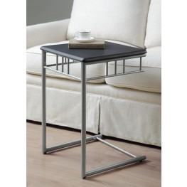 3093 Black / Silver Metal Snack Table