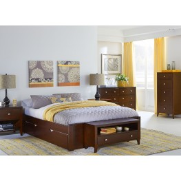 Pulse Cherry Platform Bedroom Set With Trundle