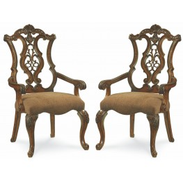 Pemberleigh Pierced Back Arm Chair Set of 2