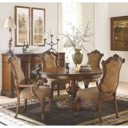 Pemberleigh Extendable Round to Oval Dining Room Set