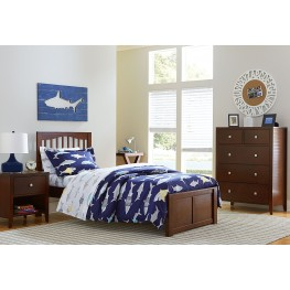 Pulse Cherry Mission Youth Panel Bedroom Set