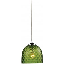 31080-1GRN Viva Polished Chrome And Green Glass 1 Light Pendant