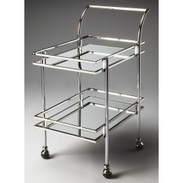 3139220 Gatsby Loft Nickel Bar Cart