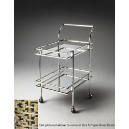 3139226 Gatsby Loft Nickel Bar Cart