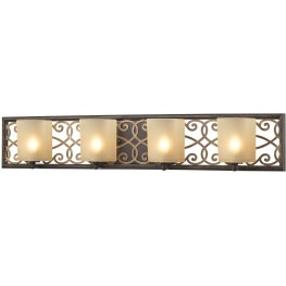 Santa Monica Weatbered Bronze With Gold Highlights 4 Light Vanity