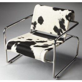 Soho Loft Nickel Accent Chair