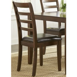 Bradshaw Russet Ladder Back Side Chair Set of 2