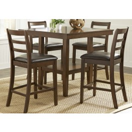Bradshaw Russet 5 Piece Gathering Dining Room Set