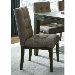 Belden Place Coffee Bean Upholstered Side Chair Set of 2