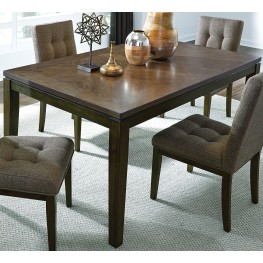 Belden Place Coffee Bean Rectangular Leg Dining Table