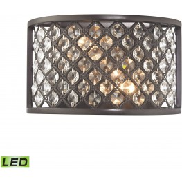 Genevieve Oil Rubbed Bronze 2 Light LED Wall Sconce
