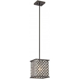 32101-1 Genevieve Oil Rubbed Bronze 1 Light Pendant