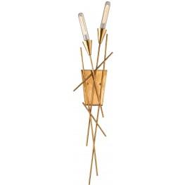 Sticks Antique Gold Leaf 2 Light Wall Sconce