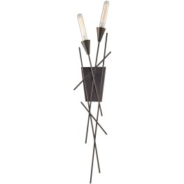 Sticks Oil Rubbed Bronze 2 Light Wall Sconce