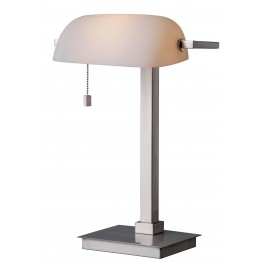 Wall Street Brushed Steel Desk Lamp