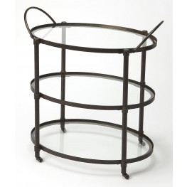 Metalworks Metal & Glass Serving Cart