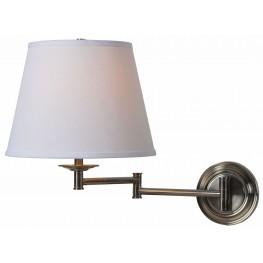 Architect Series Dark Antique Brass Wall Swing Arm Lamp