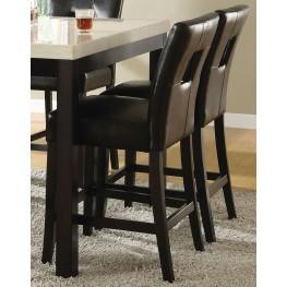 Archstone Black Bi-Cast Vinyl Counter Height Chair Set of 2