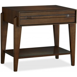 Parallel Brown 1 Drawer Nightstand