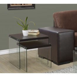 2 Piece Cappuccino Nesting Table Set
