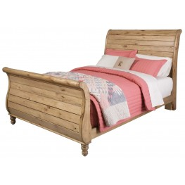 Homecoming Vintage Pine King Sleigh Bed