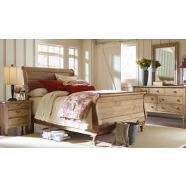 Homecoming Vintage Pine Sleigh Bedroom Set