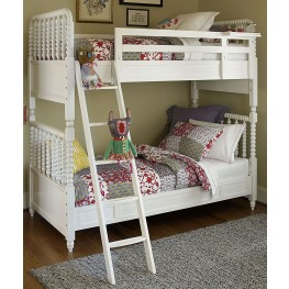 Bellamy Smartstuff Daisy White Twin Over Full Bunk Bed