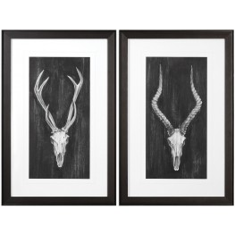 Rustic European Mounts Prints Set of 2