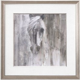 Shadow Light Horse Gray Print