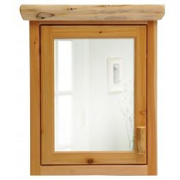 Cedar Hinged Left Inset Medicine Cabinet