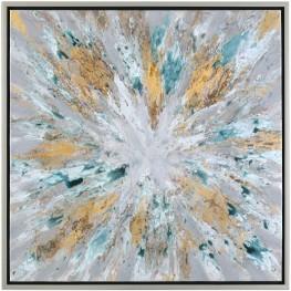Exploding Gray Star Modern Abstract Wall Art