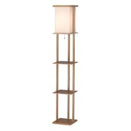 Barbery Oak Shelf Floor Lamp