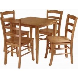 Groveland Light Oak Square Dining Set