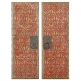 Red Door Panels Set of 2