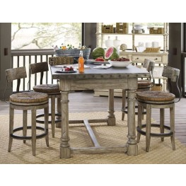 Twilight Bay Antique Linen Shelter Island Bistro Set