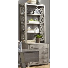 Moss Creek Antique Gray File Cabinet & Hutch