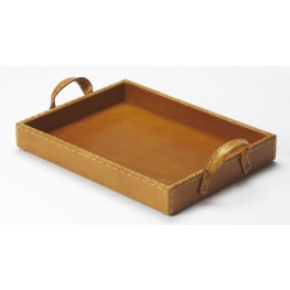 Hors D'Oeuvres Leather Serving Tray