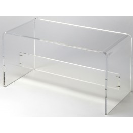 Crystal Clear Acrylic Bench