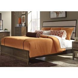 Hudson Square Espresso King Panel Bed