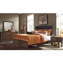 Hudson Square Espresso Upholstered Platform Bedroom Set