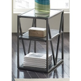 Arista Cobblestone Brown Chair Side Table