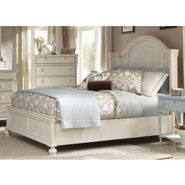 Newport Antique White King Panel Bed